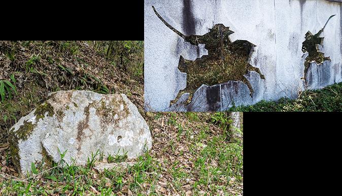 弁慶の力石の写真